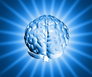 Shiny Blue Brain Image